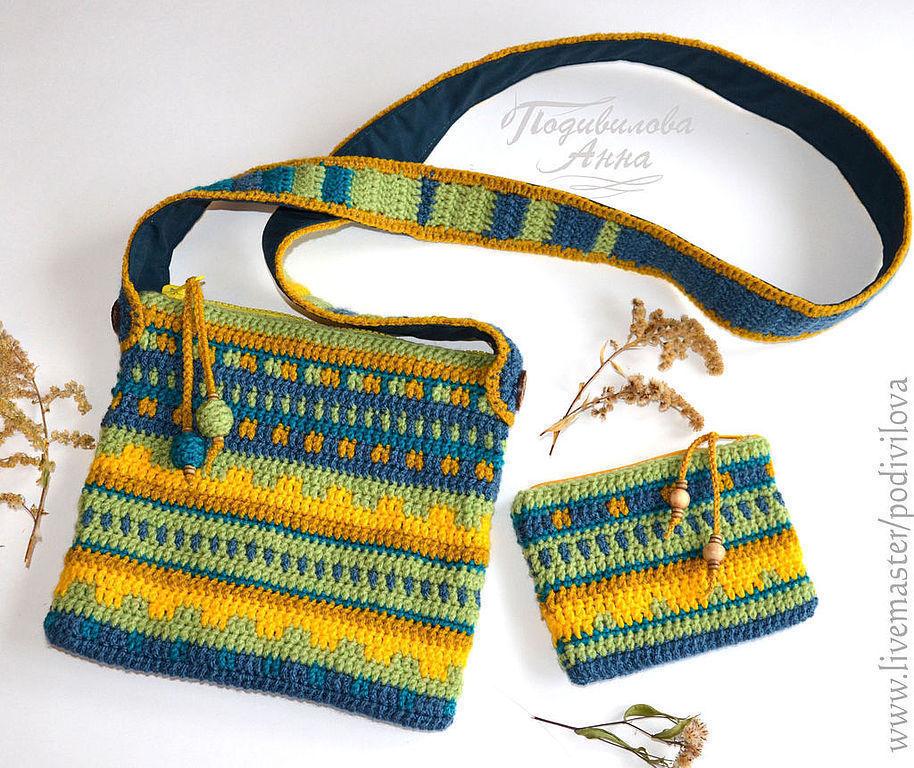 Вязание маленькие сумочки крючком 19