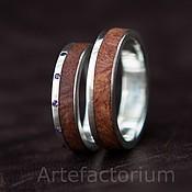Свадебный салон ручной работы. Ярмарка Мастеров - ручная работа Обручальные кольца с амбойной и аметистами. Handmade.