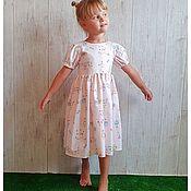 Платья ручной работы. Ярмарка Мастеров - ручная работа Платье Милые зайки. Handmade.