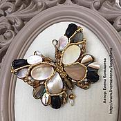Украшения handmade. Livemaster - original item Butterfly brooch mother of pearl. Handmade.