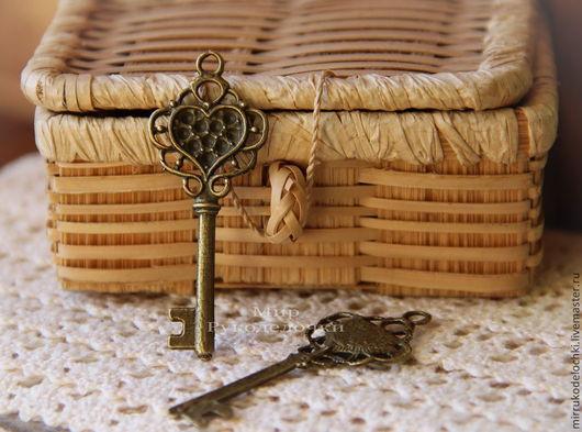 Для украшений ручной работы. Ярмарка Мастеров - ручная работа. Купить ключ 5.2. Handmade. Шармик, подвеска