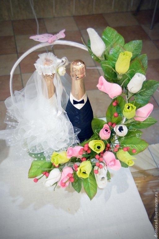 Букет с шампанским `Свадьба`.