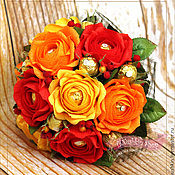 """Цветы и флористика ручной работы. Ярмарка Мастеров - ручная работа """"Яркая осень"""" ручной букет. Handmade."""