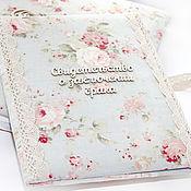 """Свадебный салон ручной работы. Ярмарка Мастеров - ручная работа Папка для свидетельства о браке """"Shabby Chic"""" 3. Handmade."""