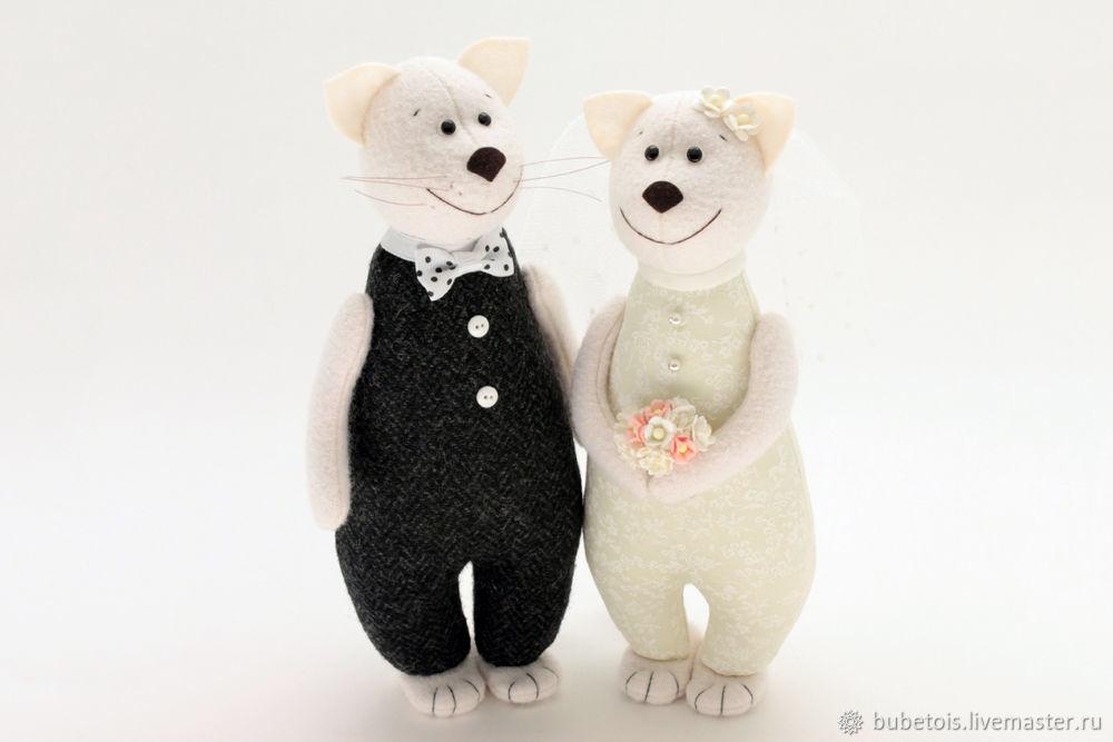 Свадебные коты - символ домашнего очага, подарок на свадьбу, Подарки, Москва,  Фото №1