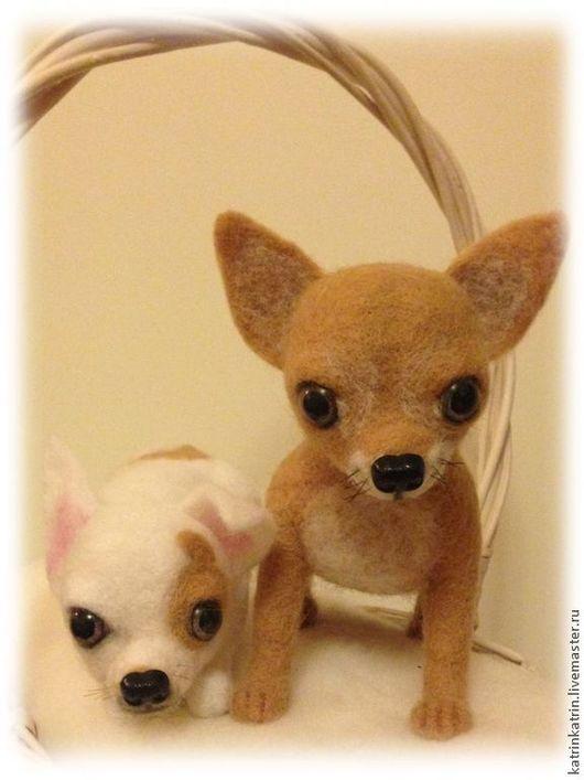 Игрушки животные, ручной работы. Ярмарка Мастеров - ручная работа. Купить Собаки  Чихуахуа. Handmade. Кукла ручной работы, собака