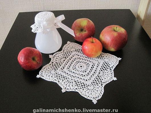 Текстиль, ковры ручной работы. Ярмарка Мастеров - ручная работа. Купить Салфетка для баночки с вареньем № 140. Handmade.