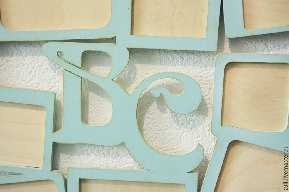 Interior design word collage with initials and frames for photo ...