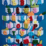 Куклы и игрушки ручной работы. Ярмарка Мастеров - ручная работа Алфавит из фетра Русский. Handmade.