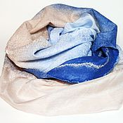 Аксессуары ручной работы. Ярмарка Мастеров - ручная работа шарф валяный Воздушный замок. Handmade.