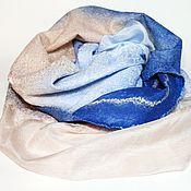 Аксессуары handmade. Livemaster - original item scarf felted castle in the Air. Handmade.