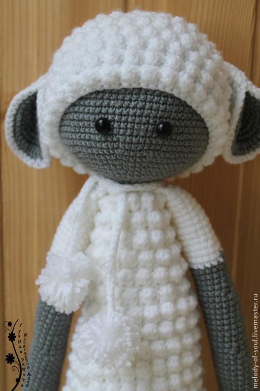 Игрушки животные, ручной работы. Ярмарка Мастеров - ручная работа. Купить Кукла Лупо в костюме овечки. Handmade. Белый, холлофайбер