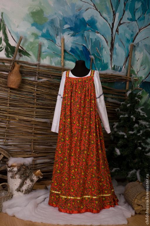 Этническая одежда ручной работы. Ярмарка Мастеров - ручная работа. Купить Сарафан. Handmade. Сарафан, лето, ситец
