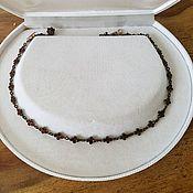 Роскошное ожерелье с пиропами томпак 1850-1900 год