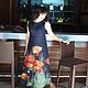 """Платья ручной работы. Ярмарка Мастеров - ручная работа. Купить Валяное платье """"МАКИ"""". Handmade. Тёмно-синий, весеннее настроение"""