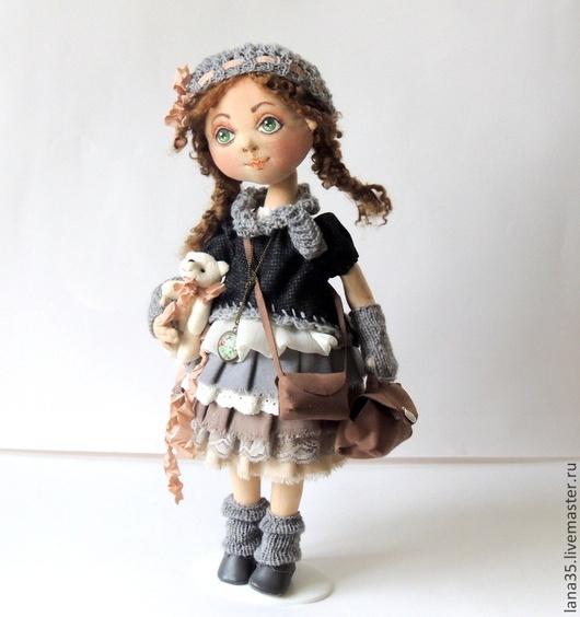 Коллекционные куклы ручной работы. Ярмарка Мастеров - ручная работа. Купить Дина. Handmade. Бежевый, подарок женщине, шебби-лента