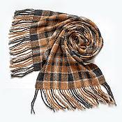 Аксессуары handmade. Livemaster - original item Woven tweed scarf in a cage. Handmade.