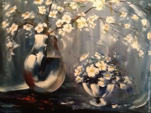 Картины цветов ручной работы. Ярмарка Мастеров - ручная работа. Купить Весенний букет. Handmade. Синий, весенние цветы
