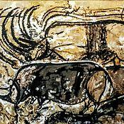 Картины и панно handmade. Livemaster - original item Hunting for rhinos.Fragment.. Handmade.
