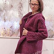 """Одежда ручной работы. Ярмарка Мастеров - ручная работа Кардиган вязаный женский """"Флоксы"""". Handmade."""