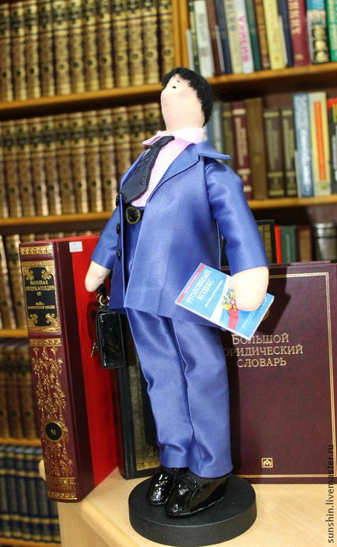 Куклы Тильды ручной работы. Ярмарка Мастеров - ручная работа. Купить Адвокат. Handmade. Синий, мужчине, тильда, хлопок