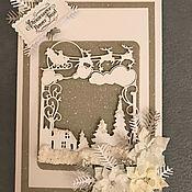 Открытки ручной работы. Ярмарка Мастеров - ручная работа Открытки с Новым годом и Рождеством. Handmade.