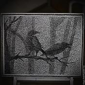 """Картины и панно ручной работы. Ярмарка Мастеров - ручная работа картина """"Ночь"""" в стиле стринг арт. Handmade."""