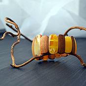 Украшения handmade. Livemaster - original item Bracelet made of wood and Baltic amber. Handmade.