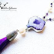 """Украшения ручной работы. Ярмарка Мастеров - ручная работа Кулон """"Фиолет"""". Handmade."""