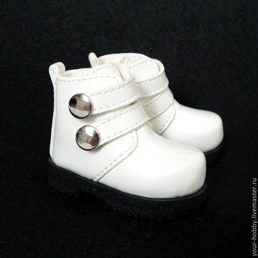Куклы и игрушки ручной работы. Ярмарка Мастеров - ручная работа. Купить Ботинки 7,2см, обувь для кукол. Handmade. Белый