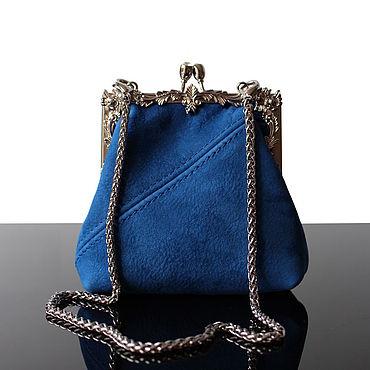 Bags and accessories handmade. Livemaster - original item Small women`s handbag-purse made of natural suede. Handmade.