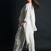 Одежда handmade. Livemaster - original item Stylish suit, Wide trousers and long loose top - SE0261LE. Handmade.