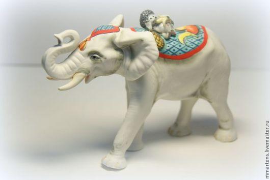 """Статуэтки ручной работы. Ярмарка Мастеров - ручная работа. Купить Слон №5 из серии """"Путешествие"""". Handmade. Разноцветный, путешествие, роспись"""