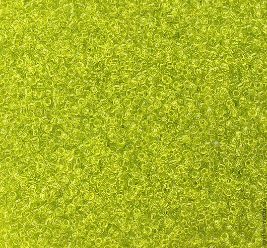 Для украшений ручной работы. Ярмарка Мастеров - ручная работа. Купить Круглый 15/0 TOHO 4 Lime Green Transparent  японский бисер. Handmade.