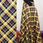 Одежда ручной работы. Ярмарка Мастеров - ручная работа SS2017 Юбка Желтая в клеточку. Handmade.