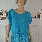 Одежда handmade. Livemaster - original item Openwork tunic, ,46-52r., viscose.. Handmade.