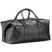 Сумки и аксессуары handmade. Livemaster - original item Leather travel sport bag (black antique). Handmade.