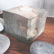Для дома и интерьера ручной работы. Ярмарка Мастеров - ручная работа Подсвечник деревянный. Handmade.