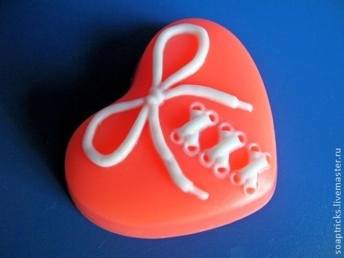 Мыло ручной работы. Ярмарка Мастеров - ручная работа. Купить Мыло Сердце на шнуровке. Handmade. Сердечко, день влюбленных