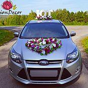 Свадебный салон ручной работы. Ярмарка Мастеров - ручная работа свадебное украшение на авто №22. Handmade.