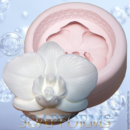 Силиконовая форма для мыла и свечей `Орхидея`
