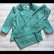 Одежда ручной работы. Ярмарка Мастеров - ручная работа Жакет и брюки из итальянского трикотажа. Handmade.