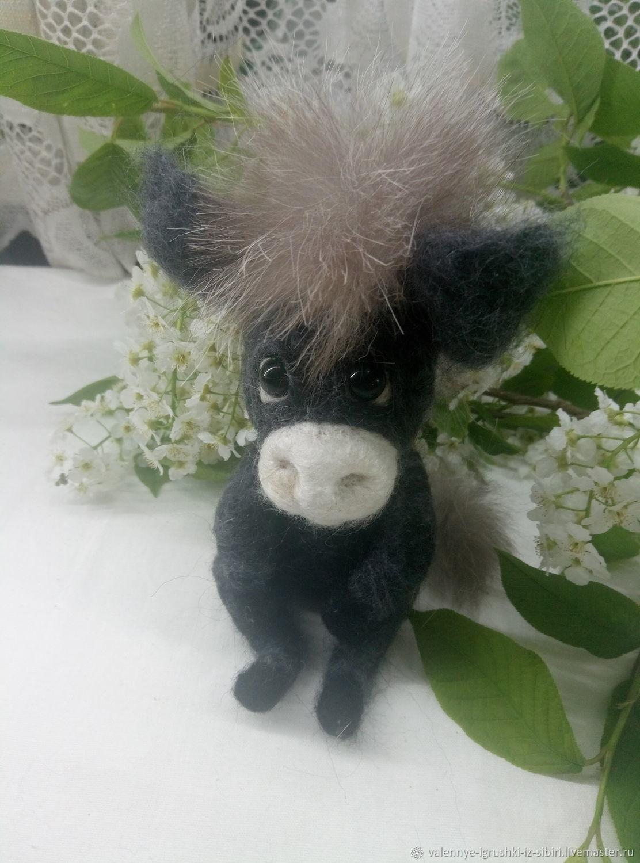 Грустный ослик, Войлочная игрушка, Кемерово,  Фото №1