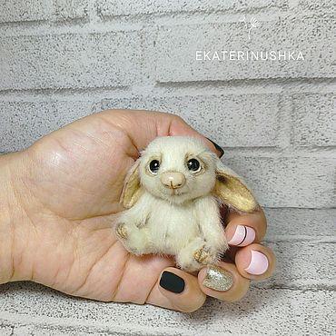 Куклы и игрушки ручной работы. Ярмарка Мастеров - ручная работа Мини-зайка. Handmade.