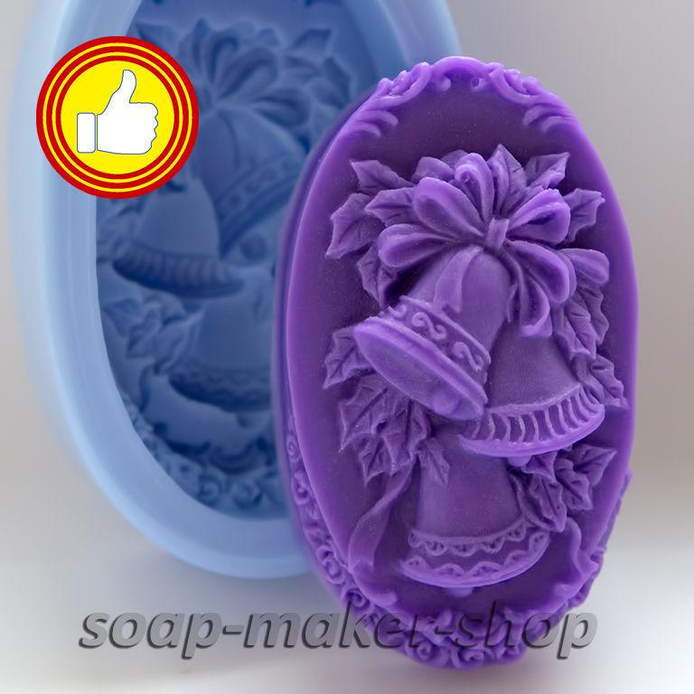 Силиконовая форма в виде камней для мыла
