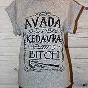 Одежда handmade. Livemaster - original item T-shirt with painting Avada Kedavra 16 Harry Potter. Handmade.