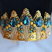 Украшения handmade. Livemaster - original item The crown and earrings