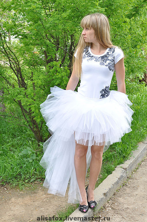 юбка на свадьбу или вечеринку SENSATION WHITE