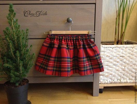 Одежда для девочек, ручной работы. Ярмарка Мастеров - ручная работа. Купить Юбка для девочки пышная (в красную клетку). Handmade.
