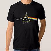 "Одежда handmade. Livemaster - original item Футболка с принтом ""Pink Floyd - Bill Cipher"". Handmade."